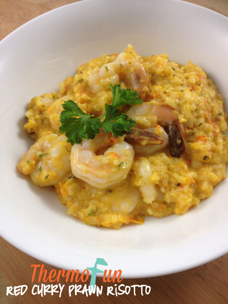 ThermoFun – Red Curry Prawn Risotto Recipe