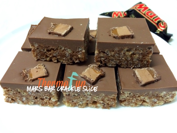 ThermoFun – Mars Bar Crackle Slice Recipe