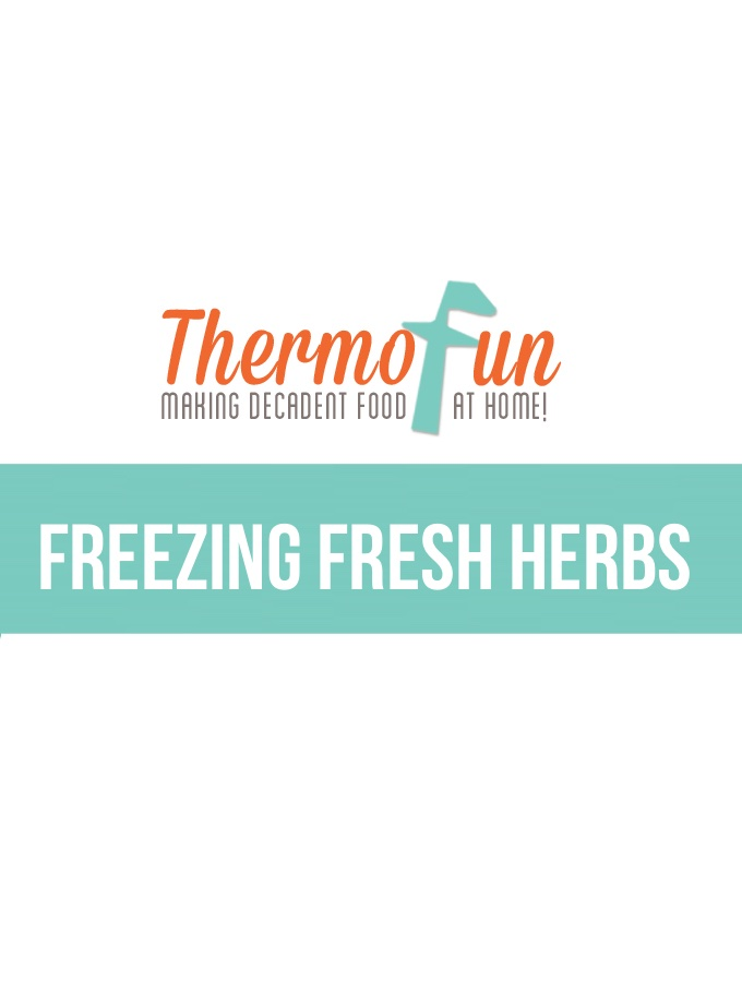 ThermoFun – Everyday Basics – Freezing Fresh Herbs