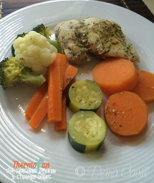 ThermoFun – MAD MONDAY – Thai Seasoned Chicken & Steamed Veges