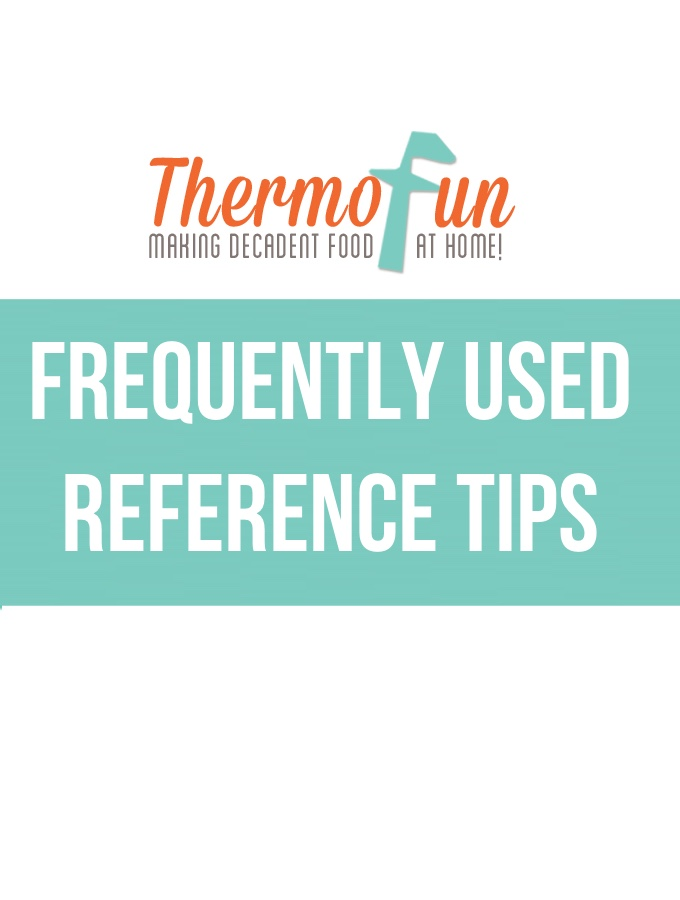 ThermoFun – Thermomix Frequently Used Reference Tips