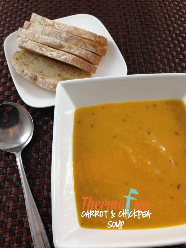 Carrot and Chickpea Soup – Week 35, 2014