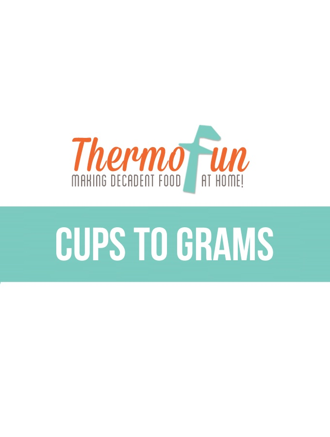 ThermoFun – Techie Tuesday – Cup to Gram Measurements Chart