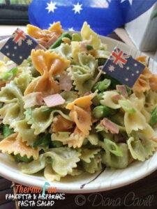 thermomix pancetta & Aspargus Pasta Salad - ThermoFun