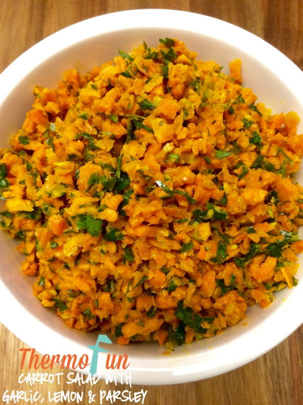 Carrot Salad with Garlic, Lemon and Parsley – Week 8, 2015