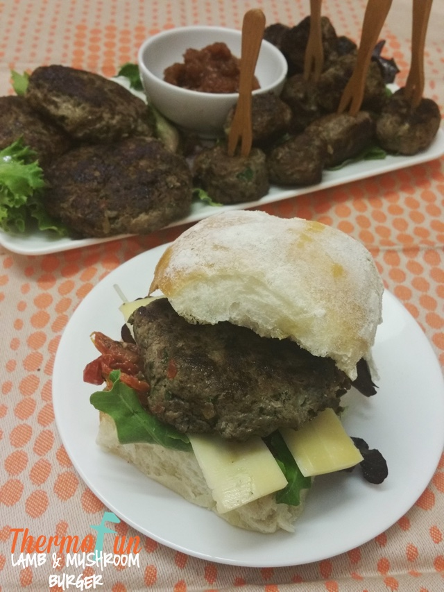 ThermoFun – MAD MONDAY – Lamb and Mushroom Burger Recipe