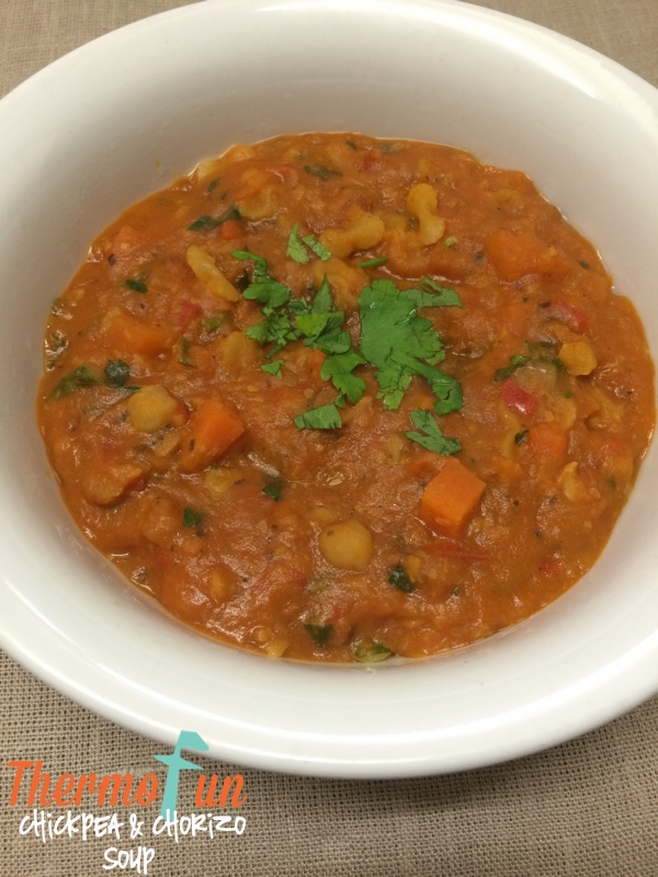 Week 24 - Chickpea and Chorizo Soup - ThermoFun | MAKING DECADENT FOOD ...
