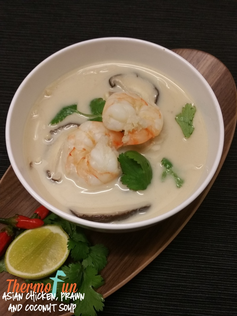 Asian Chicken, Prawn and Coconut Soup – Week 31, 2015