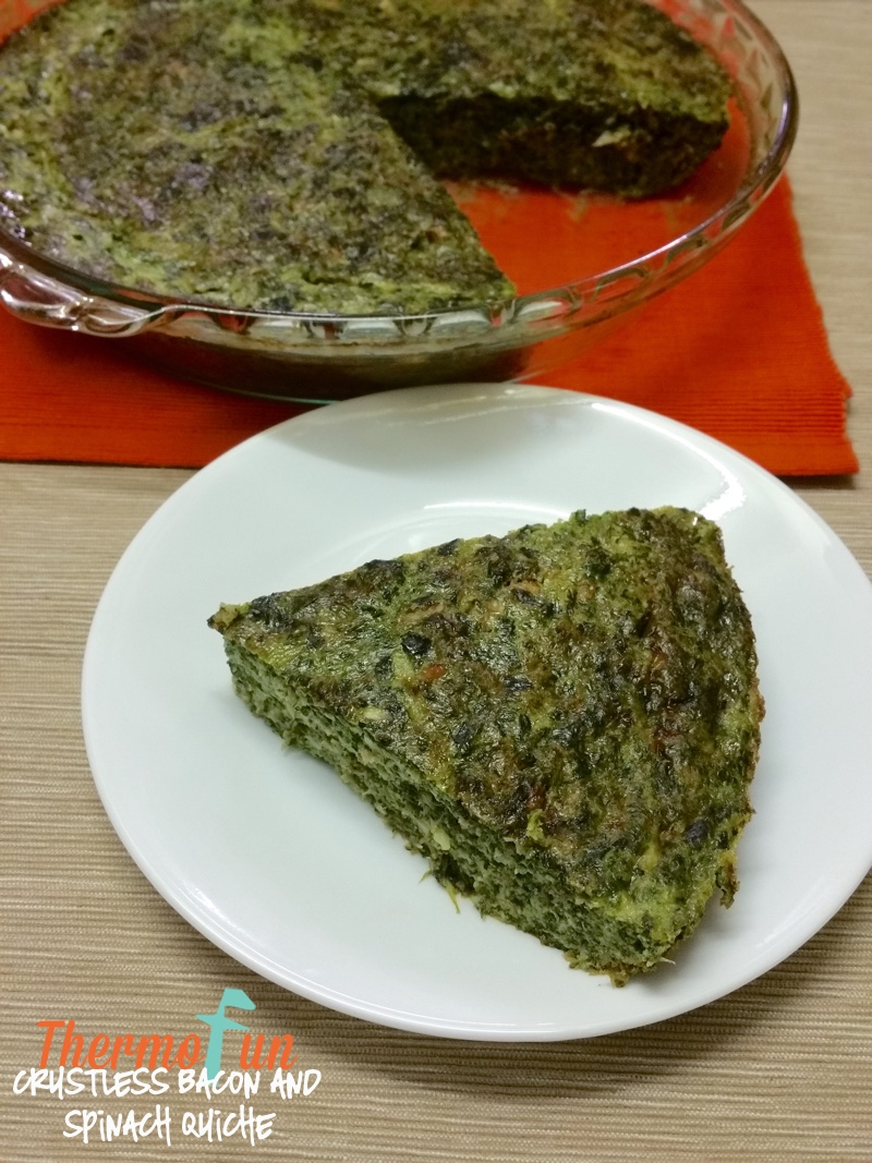 Crustless Bacon & Spinach Quiche – Week 52, 2015
