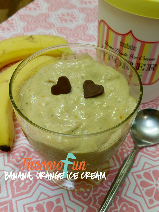 Thermomix Banana Orange Ice Cream ThermoFun