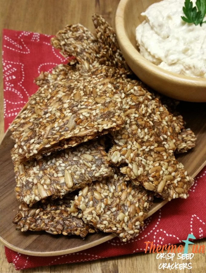 Thermomix Crisp Seed Crackers - ThermoFun