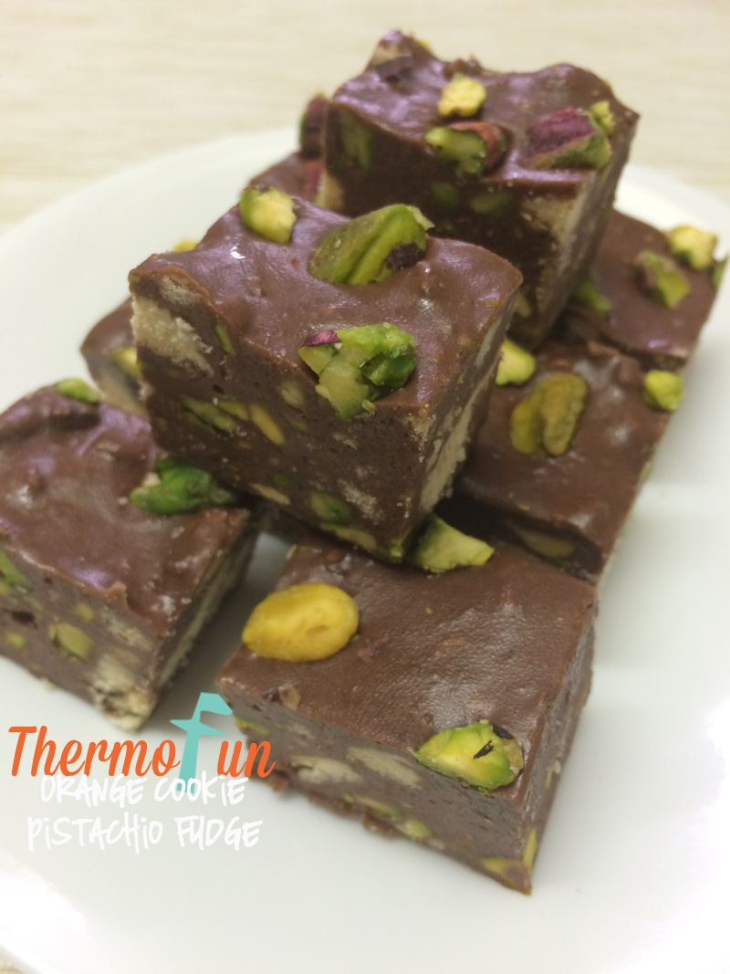 Orange Cookie Pistachio Fudge - Wicked Wednesday - ThermoFun