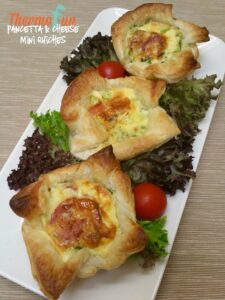 thermomix pancetta cheese mini quiche