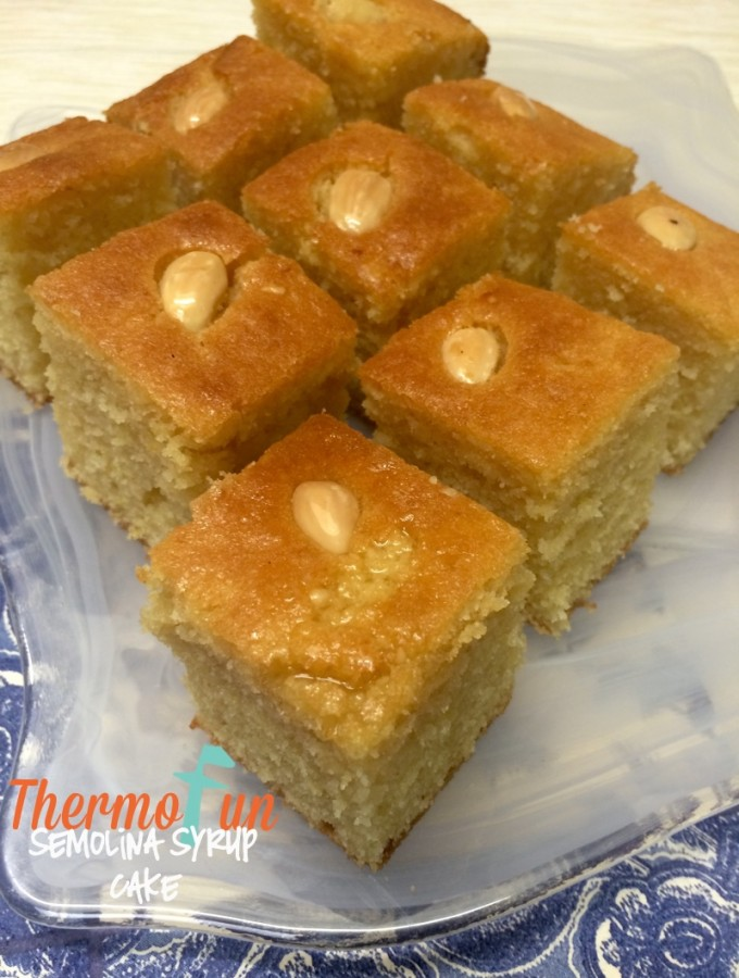 Semolina Syrup Cake (Turkish Revani) – Week 14, 2016