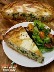 Thermomix Spinach Goat Cheese Quiche Grain Free Base