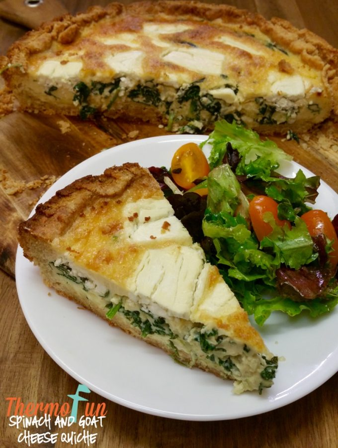 Spinach & Goat Cheese Quiche (Grain Free Crust) – Week 18, 2016