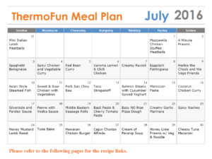 Thermomix Meal Plan ThermoFun July