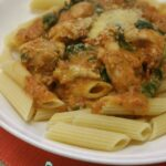 Thermomix Chicken Spinach Rosa Sauce