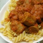 Thermomix Curried Passata Sausages