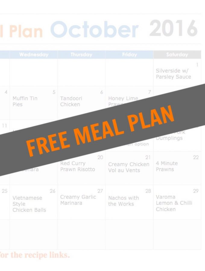 ThermoFun October FREE Thermomix Meal Plan