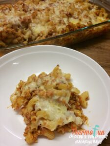 Thermomix Chicken & Vegetable Cheesy Macaroni Bake