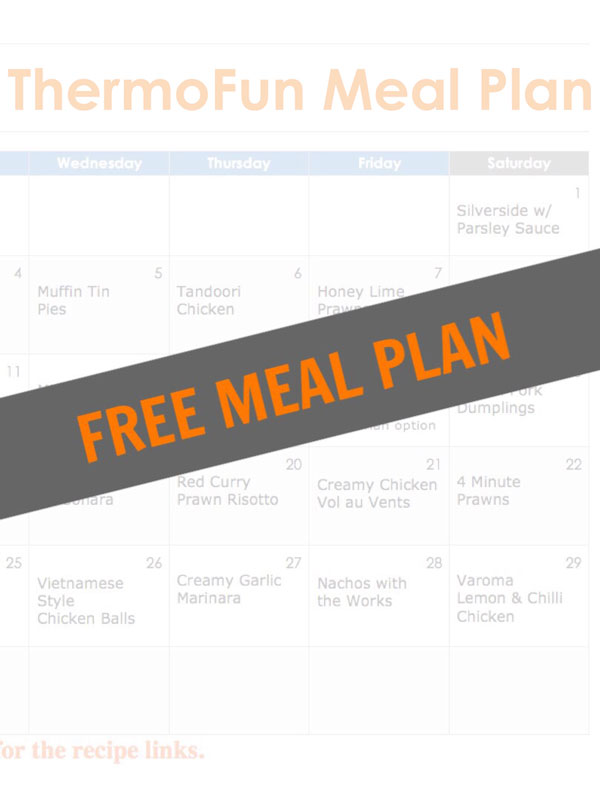 ThermoFun December 2016 FREE Thermomix Meal Plan