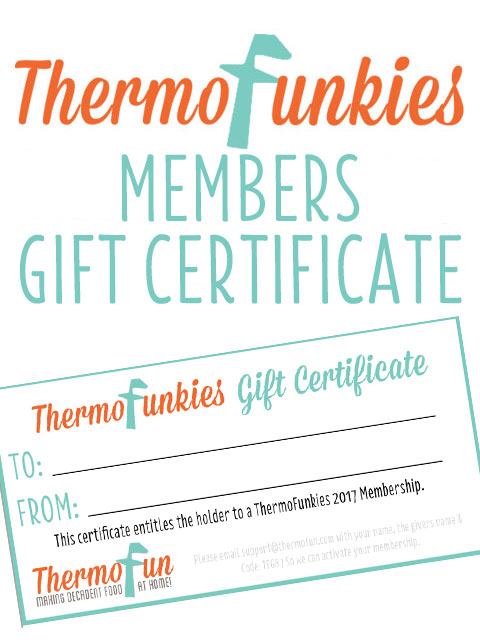 ThermoFunkies 2017 Member Gift Certificate
