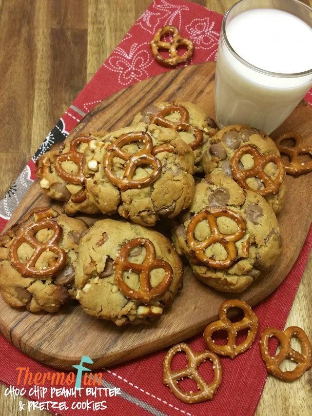 Choc Chip Peanut Butter & Pretzel Cookies – Wicked Wednesday