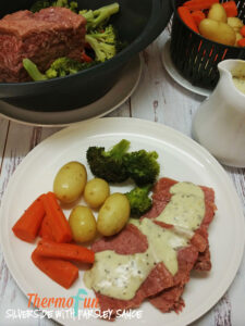 thermomix-silverside-parsley-sauce