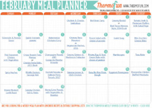 ThermoFun FREE February 2017 Meal Plan