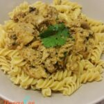 thermomix-Chicken-Pasta-with-Creamy-Coriander-Lime-Sauce