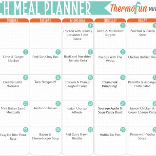 ThermoFun FREE March 2017 Meal Plan