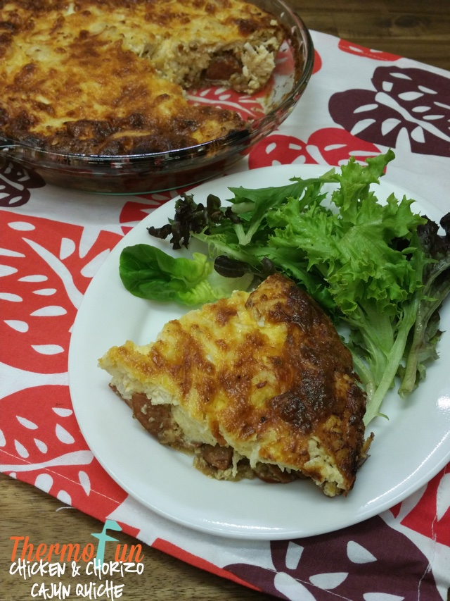 Chicken and Chorizo Cajun Quiche – Week 12, 2017