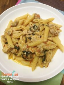 thermomix-Chicken-Sundried-Tomato-And-Mushroom-Pasta