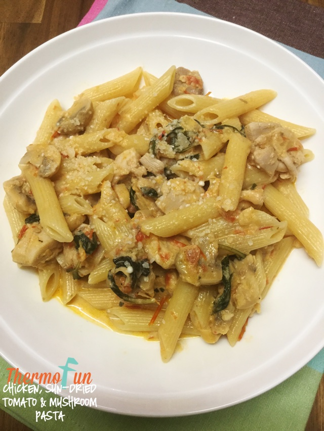 Chicken, Sun Dried Tomato & Mushroom Pasta – Mad Monday