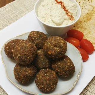 Sesame Falafel with Tahini Garlic Sauce – Week 23, 2017