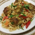 Thermomix-Thai-Chicken-Meatballs-With-Rice-Noodles