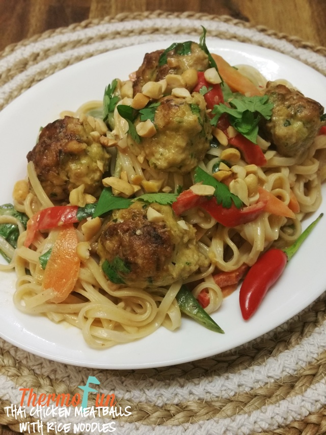 Thai Chicken Meatballs with Rice Noodles – Week 24, 2017