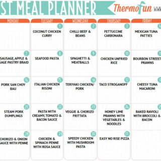 ThermoFun Free August 2017 Meal Plan