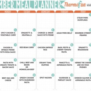 THERMOFUN FREE SEPTEMBER 2017 MEAL PLAN