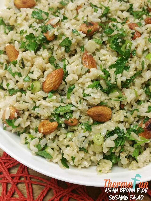 Asian Brown Rice & Sesame Salad
