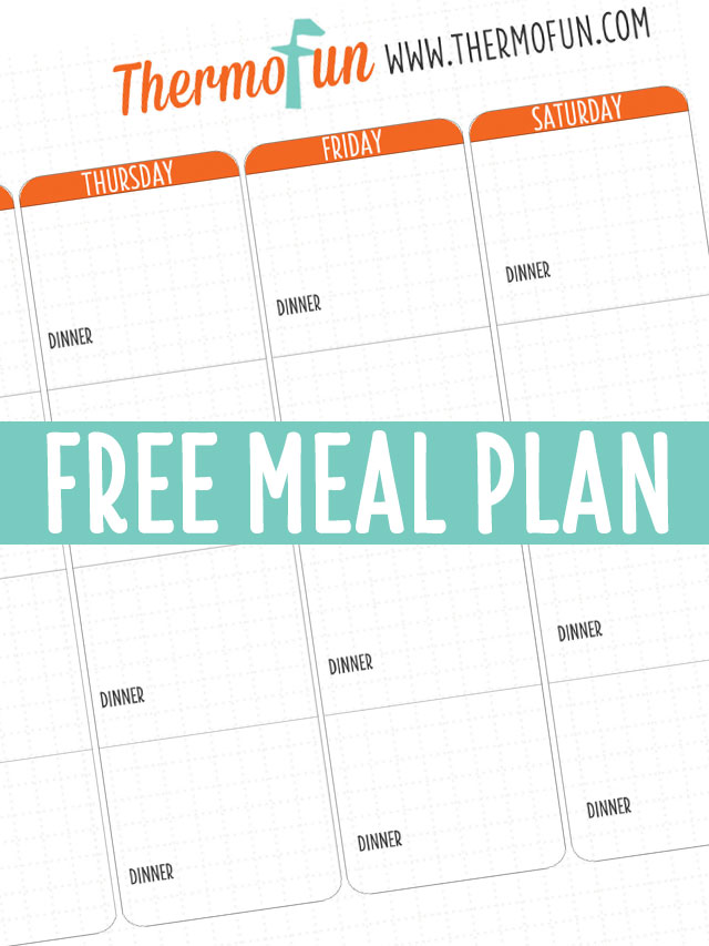 THERMOFUN FREE MEAL PLAN – JULY 2018