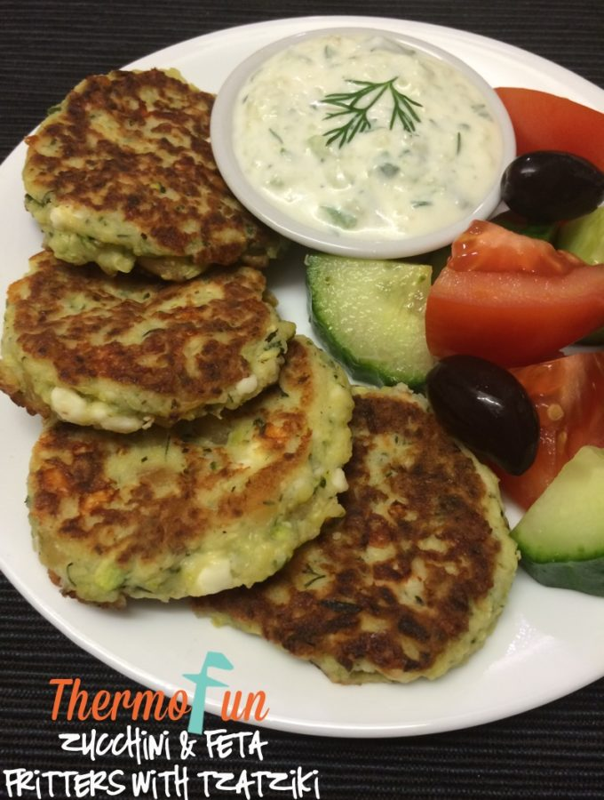 Zucchini and Feta Fritters – ThermoFunkies May 2016