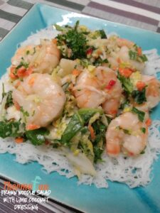 Prawn Noodle Salad with Lime Coconut Dressing