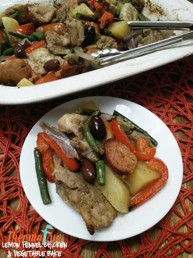 Lemon Fennel Chicken and Vegetable Bake – May 2018
